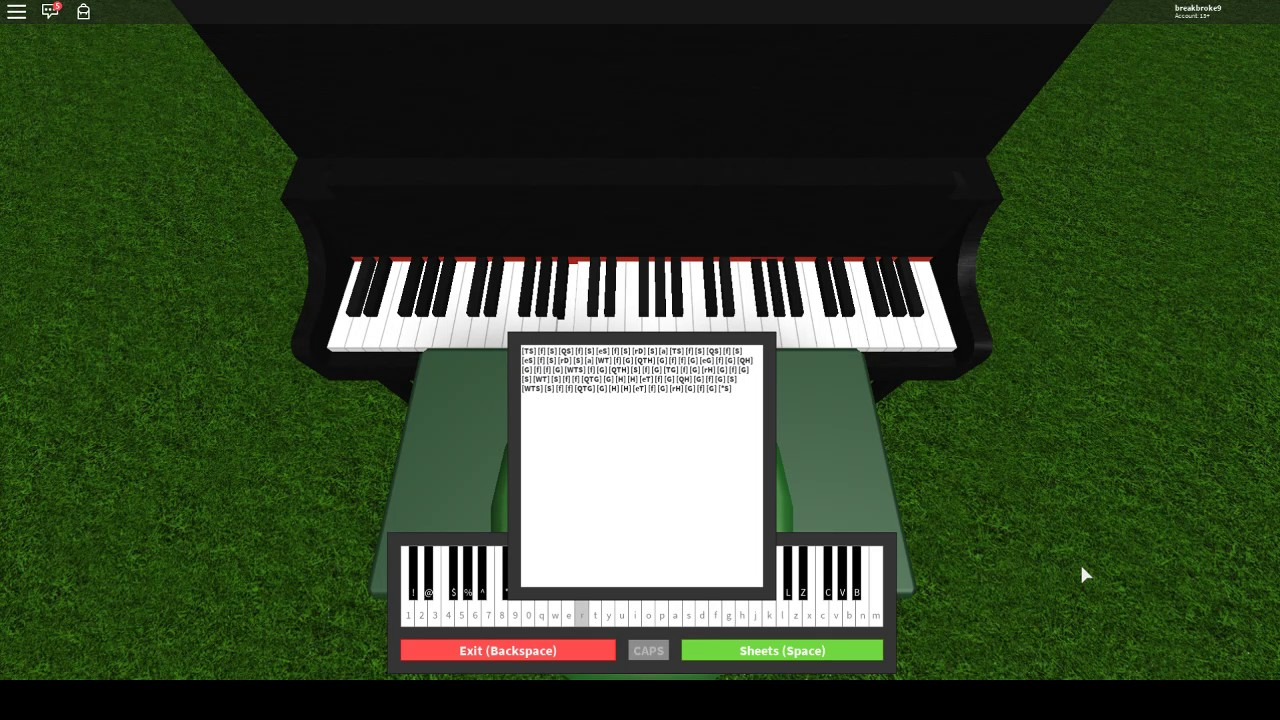roblox piano how to play shape of you notes youtube. Black Bedroom Furniture Sets. Home Design Ideas