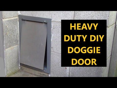 DIY Heavy Duty Doggie Door