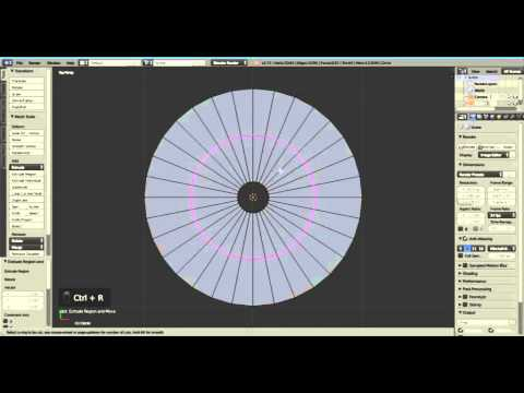 Blender Tutorial :Create A Circular Disc With a Central Hole -Updated (3 Steps )