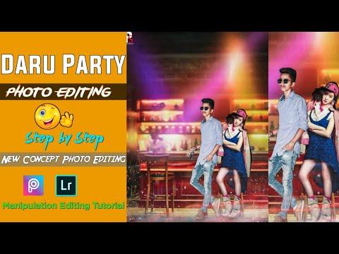 Daru Party Photo Editing PicsArt   New Concept PicsArt   Lightroom Tutorial   Poros Editz thumbnail
