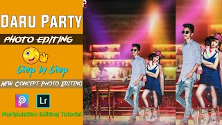 Party Photo Editing New Concept in PicsArt Tutorial 2020 Poros Editz