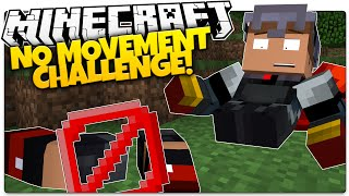 Can You Play Minecraft Without MOVING!? | Minecraft No Movement Challenge (Custom Command)