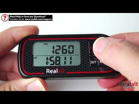 How to Operate the Realalt 3D Pedometer