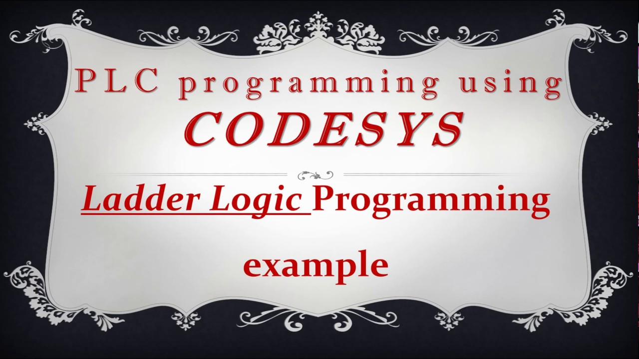 Codesys Ladder Logic Diagram Programming Example Youtube Pictures