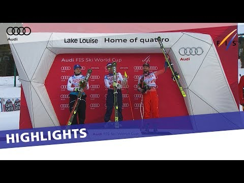 Highlights | Beat Feuz storms to win in Downhill at Lake Louise | FIS Alpine