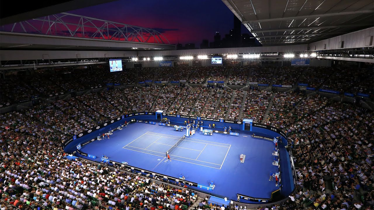 Australian open day 9 rod laver arena youtube for Door 9 rod laver arena