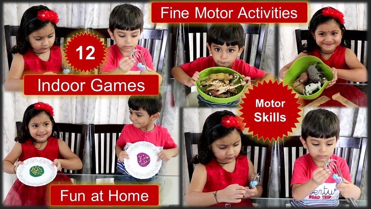 12 Indoor Games | Fine Motor Activities | Gross Motor Skills | Activities for Kids | Preschool Kids