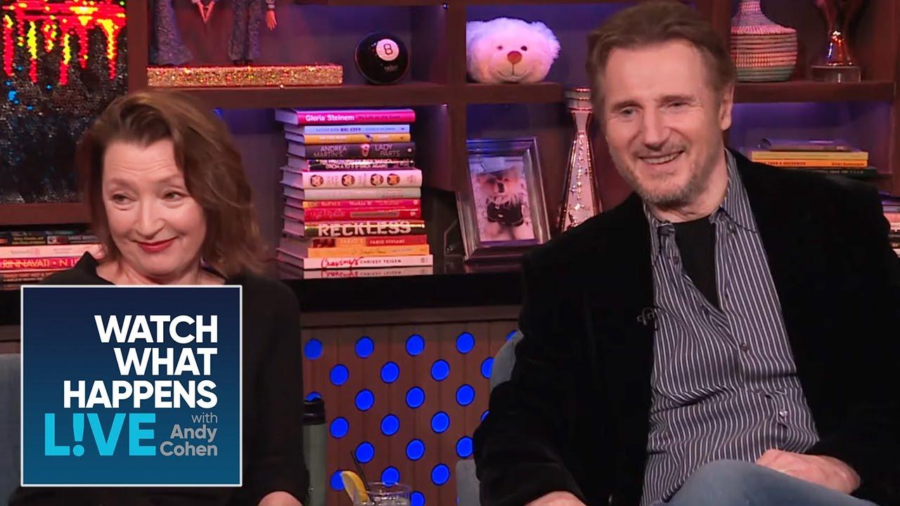 Lesley Manville & Liam Neeson Quiz Andy Cohen on British Slang | WWHL