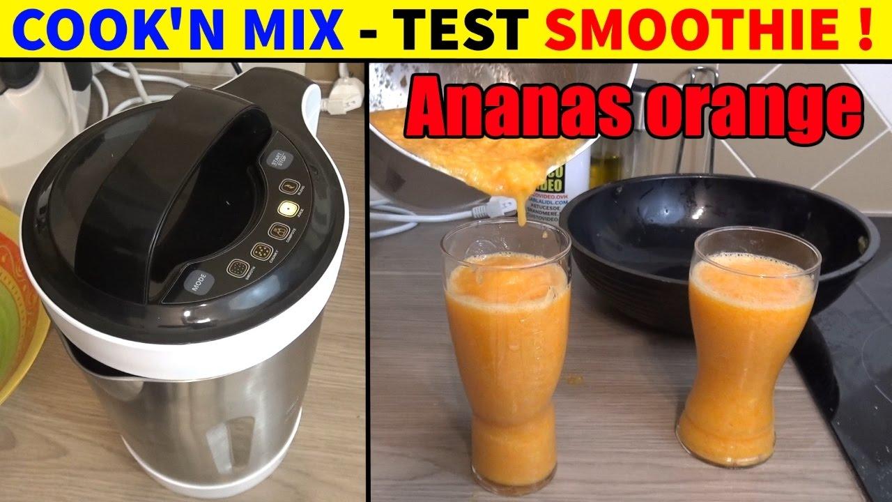cook n mix lidl silvercrest cuiseur mixeur test smoothies ananas orange carotte