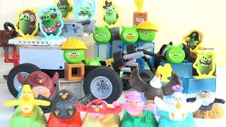 Bad Crazy Piggies Attack on the tank The Angry Birds Movie toys on kids channel Cartoon Toys Review
