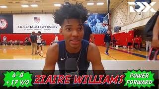 Ziaire Williams: 2019 USA Basketball U19 Training Camp Interview