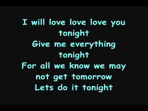 Ne-Yo - Give Me Everything (Tonight) [Lyrics on SCREEN]
