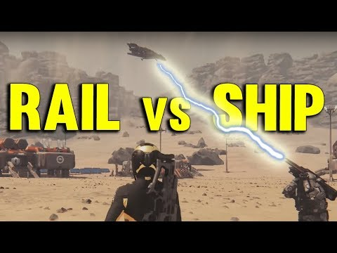 RAILGUN vs SHIP | Star Citizen 3.0 Gameplay PTU Alpha #23