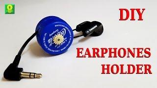 How to make DIY Earphones holder using plastic bottle caps