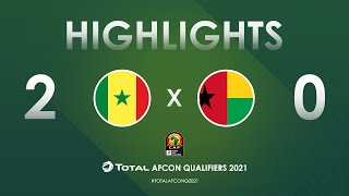 HIGHLIGHTS   Total AFCON Qualifiers 2021   Round 3 - Group I: Senegal 2-0 Guinea-Bissau
