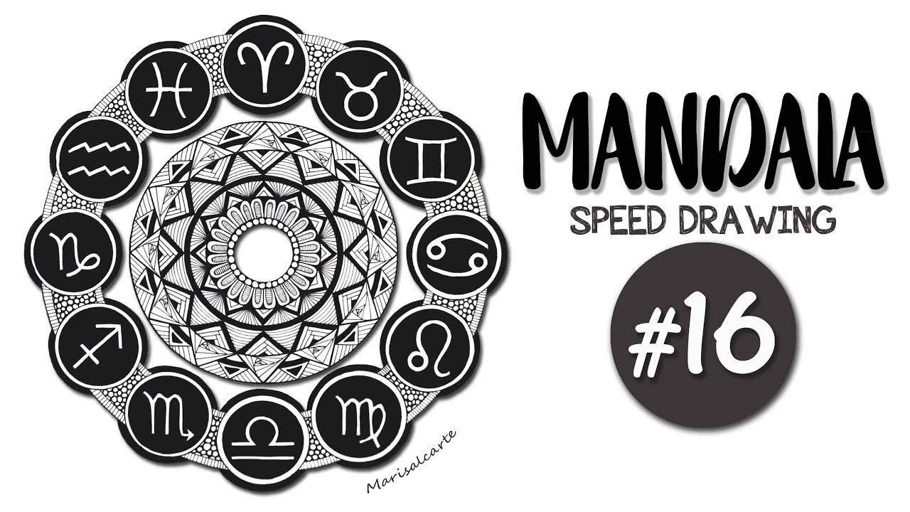 Mandala Signos Del Zodiaco Speed Drawing Youtube
