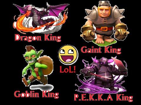 Clash of Clans Goblin|Dragon|Gaint & P.E.K.K.A King Attack ...