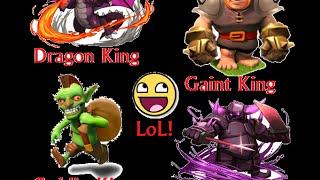 ►Clash Of Clans Goblin Dragon Gaint & P.E.K.K.A King Attack