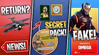 Scorpion VBucks Pack, Omega Challenges FAKE, Plane Return, Cube & More! (Fortnite News)