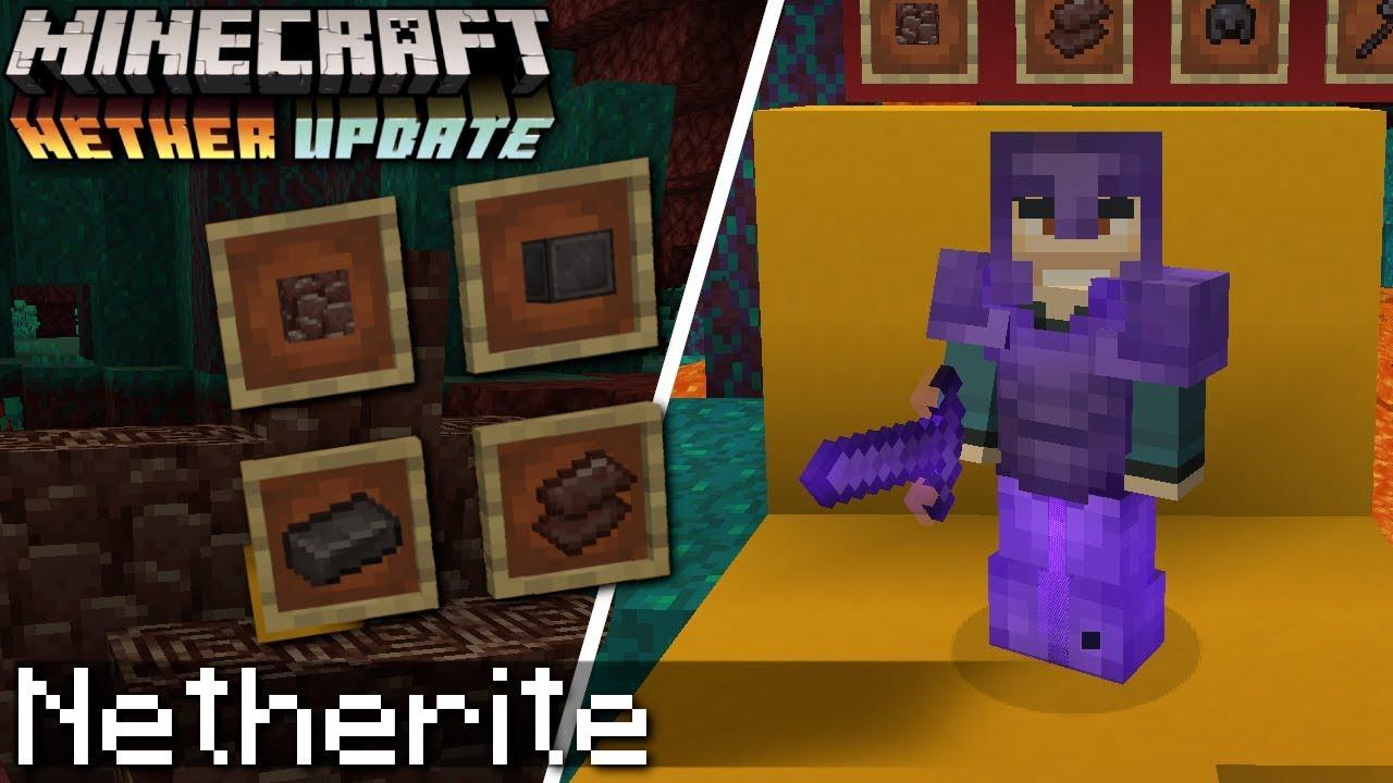 Minecraft NETHERITE ( Explained ) NETHER UPDATE Debris Scrap
