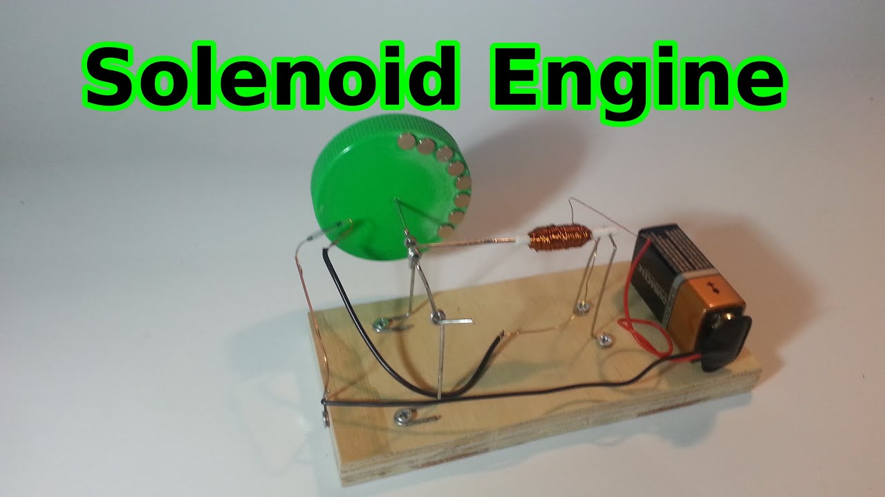 Easy to make solenoid engine youtube for How to create a motor