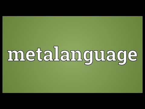 Metalanguage Meaning