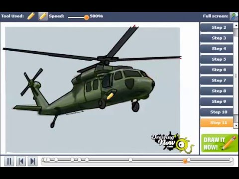 how to draw army helicopter