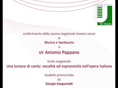 Conferimento della Laurea magistrale honoris causa a sir Antonio Pappano