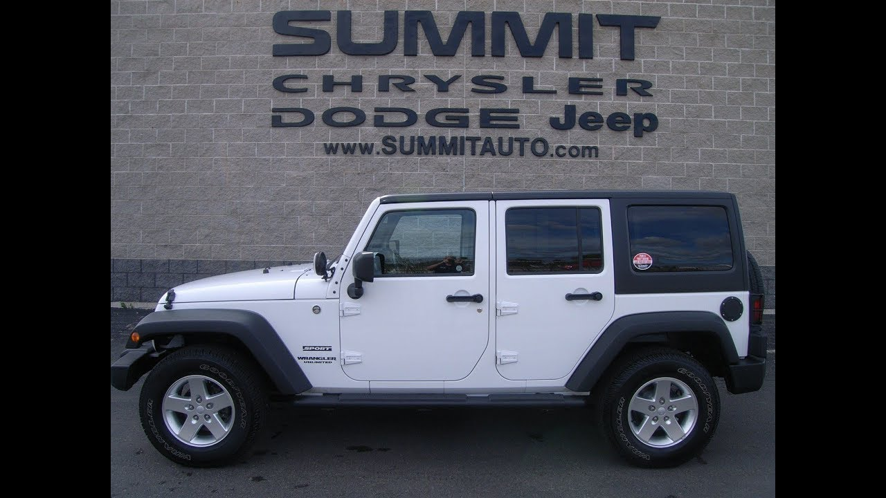 Sold 9224x 2013 Used Wrangler Unlimited Max Tow Package White Jeep Hitch Wiring Wisconsin 26499 Summitautocom