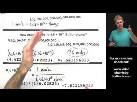 Converting Between Moles, Atoms, and Molecules