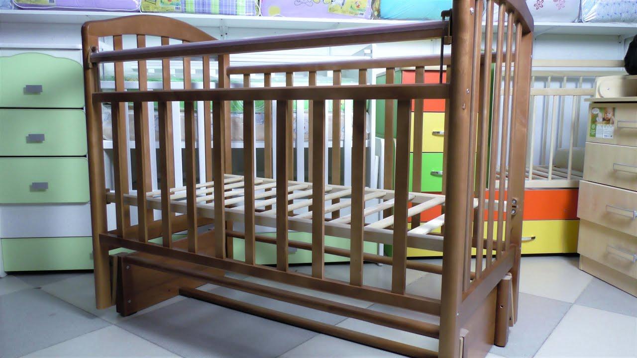 Схема сборки детской кроватки золушка