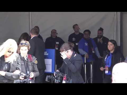 Emily Ratajkowski and Sebastian Bear McClard arriving to the Independent Spirit Awards in Santa Moni
