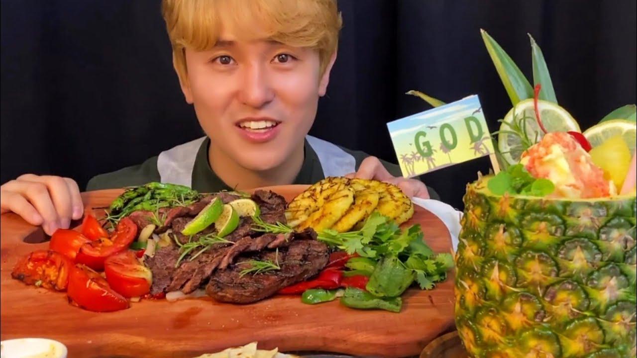 하능_ 스테이크 먹방 ASMR / Mukbang Steak
