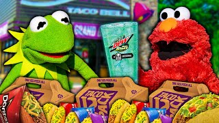 Kermit The Frog and Elmo Buy EVERYTHING in Taco Bell Drive Thru!