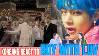 Koreans in their 30s React To 'Boy with luv' by BTS [ENG sub]