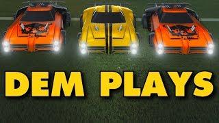 DEM PLAYS! | Rocket League Competitive 3v3 Gameplay
