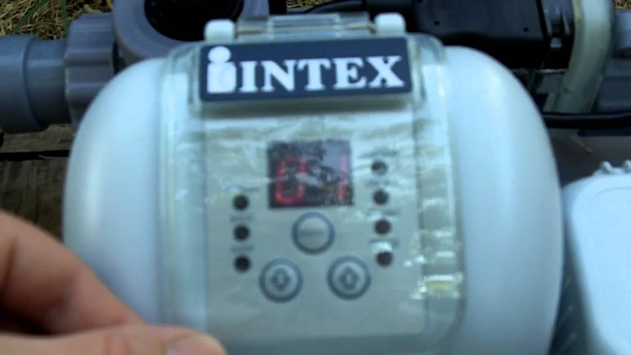 Part 4 4 Intex Above Ground Pool Sand Filter Pump And