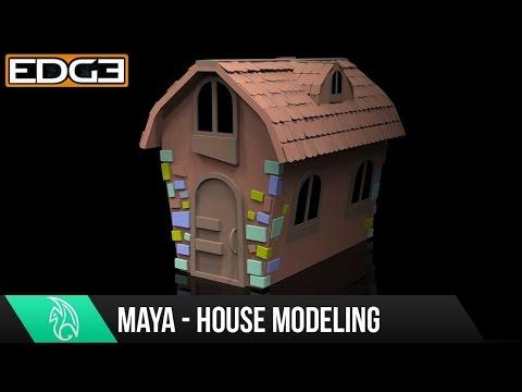 #3 Maya For Beginners - Model a Cartoon House Tutorial 1080p HD
