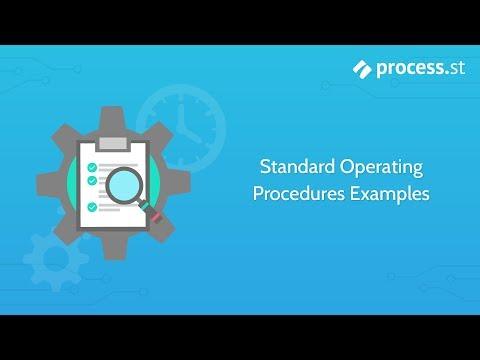 Standard Operating Procedure Examples | SOPs | SOP Example