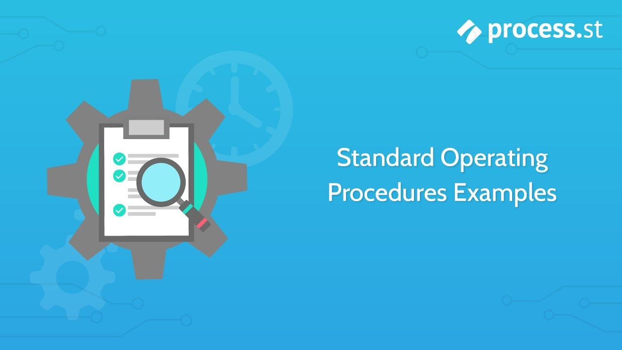 how to write standard operating procedures