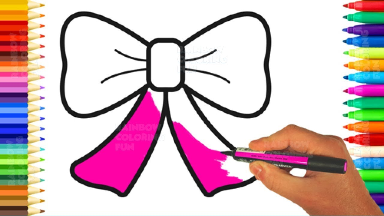 Cute Bow Coloring Pages and Drawings for Baby Art Colours for