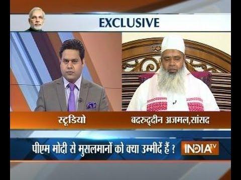 Exclusive: M. Badruddin Ajmal (MP) speaks with India TV on Modi