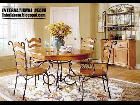 indoor wrought iron dining room sets - YouTube