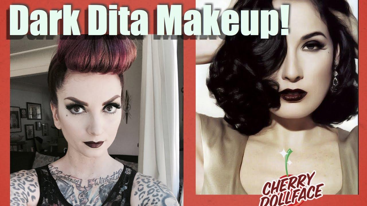 Pin up dita von teese makeup tutorial youtube.