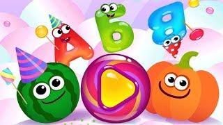 Смешная еда Учим Буквы Игры и Алфавит Для Детей