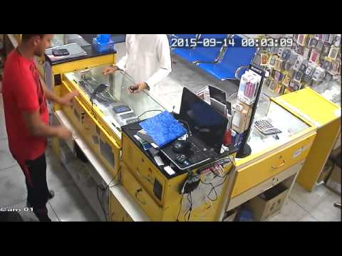 Mobile shop theft in Fujairah Golden Phone UAE