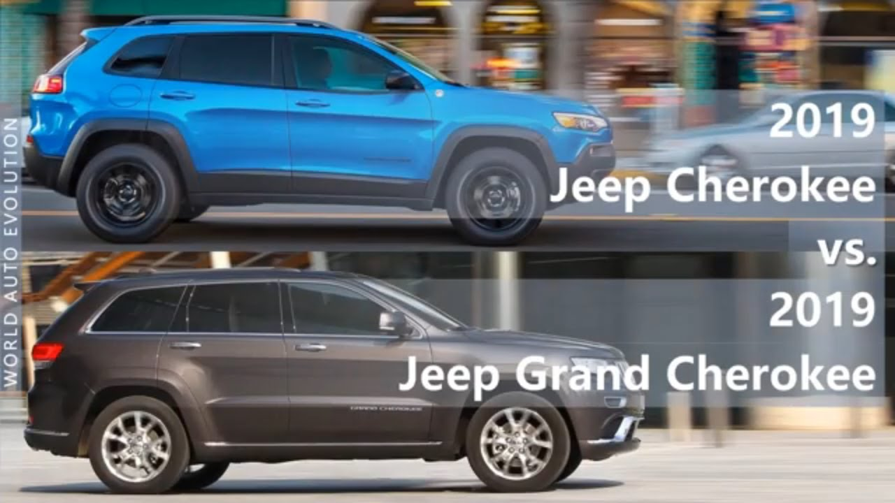 Jeep Cherokee Vs Grand Cherokee >> 2019 Jeep Cherokee Vs 2019 Jeep Grand Cherokee Technical Comparison