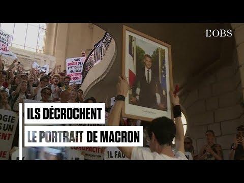 Le portrait de Macron à nouveau décroché dans une mairie à Paris