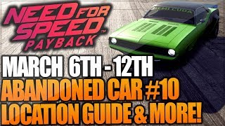 Need For Speed Payback Abandoned Car #10 - Location Guide + Gameplay - PLYMOUTH BARRACUDA!