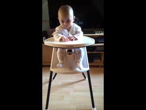 Bu'n 6 months & BabyBjorn high chair-February 18, 2013 11:27